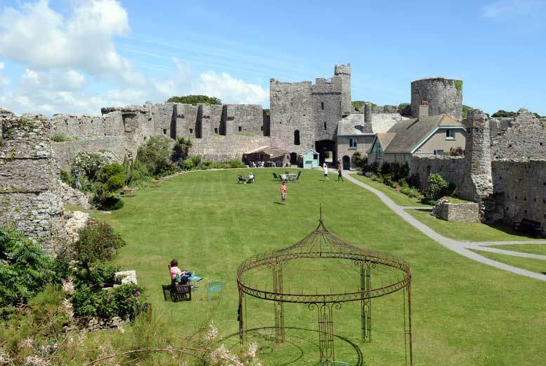 Swansea: Manorbier Castle Entry for 2 or Family of 4, Pembrokeshire from £6