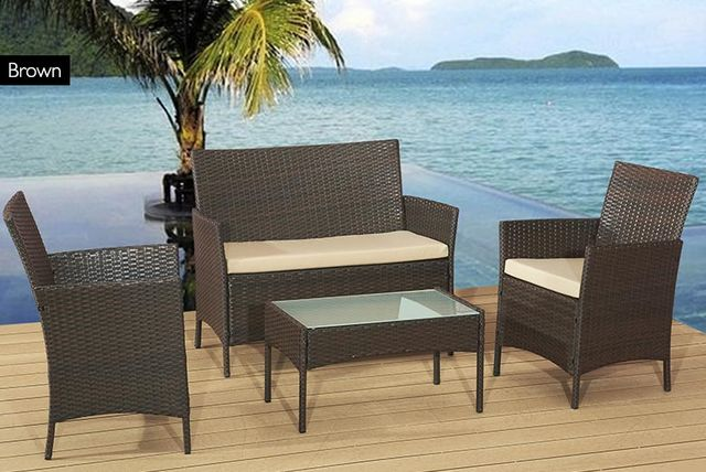 Rattan Garden Sofa Set   3 Colours!