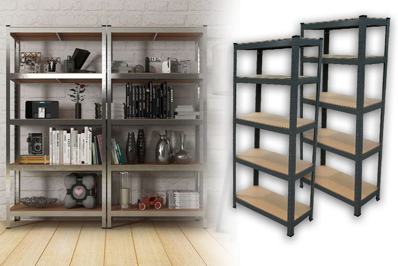 £36 instead of £240.00 (from Vivo Mounts) for a pair of five-rack steel shelving units - step up your storage game and save 86%