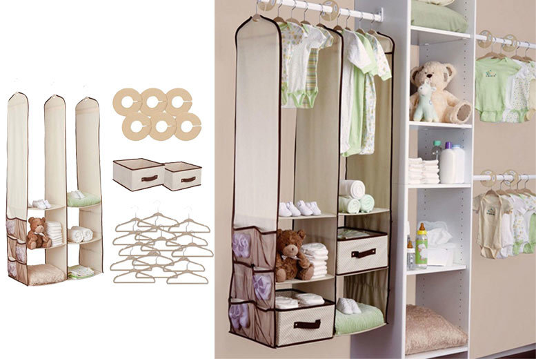 £14 instead of £36.00 (from Zoozio) for a 24-piece kids closet organiser - save 65%