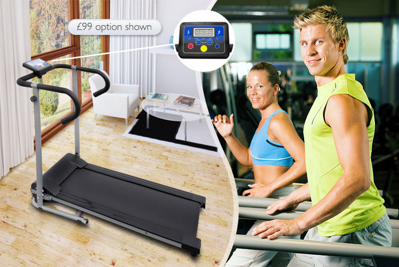 "£59 instead of £180 (from Vida XL) for a folding treadmill, £99.99 for an electric treadmill with a 3"" LCD display - save up to 67%"