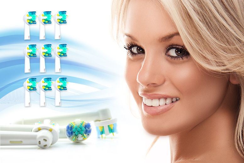 £6 (from Pretty Essential) for 12 Oral B-compatible Floss Action toothbrush heads, or £11 for 24