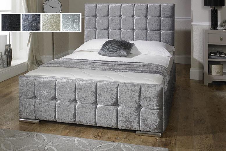 Luxury Nevada Fabric Velvet Storage Bed - 4 Colours!