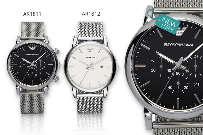 Men's Emporio Armani Watch - Black or White Designs!