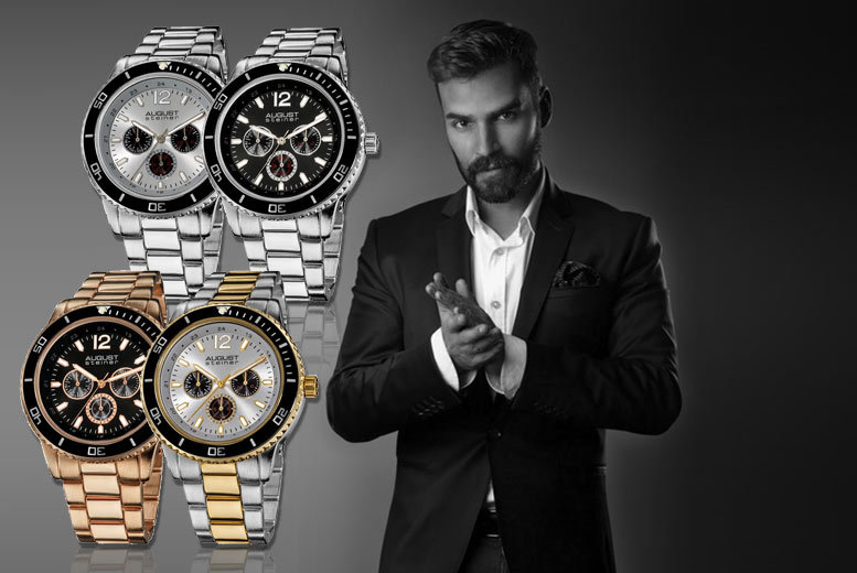 £39 (from Product Shelf) for a men's dual time Steiner watch - choose from four styles and save 88%