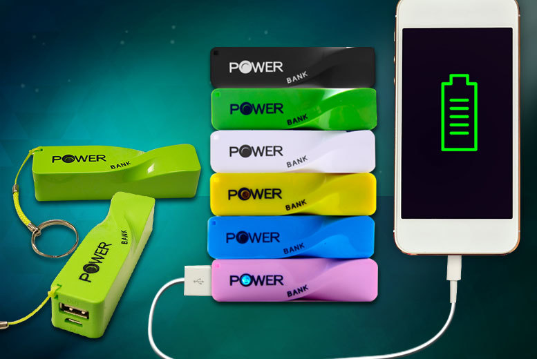 £6 instead of £29.99 (from ClickWrap) for a twisted Powerbank smartphone charger - choose from six colours and save 80%