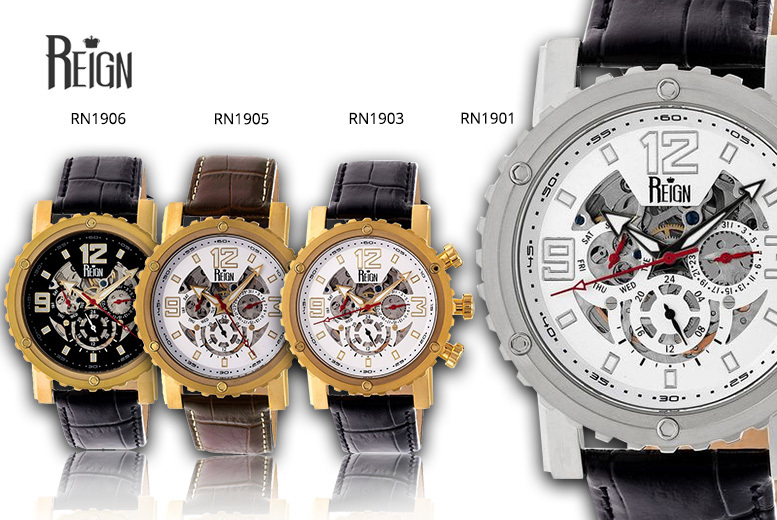 Men's Reign 'Alpin' Luxury Automatic Watch - 7 Designs!