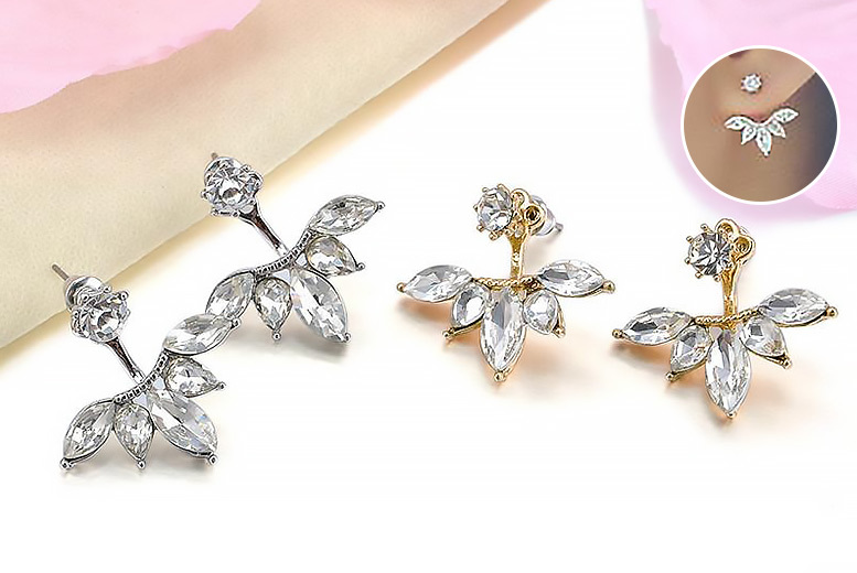 3 Pairs of Leaf Drop Earrings for £10