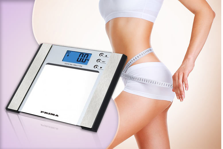 £12 instead of £25.01 for a set of 7-in-1 weight, water & BMI bathroom scales - save 52%