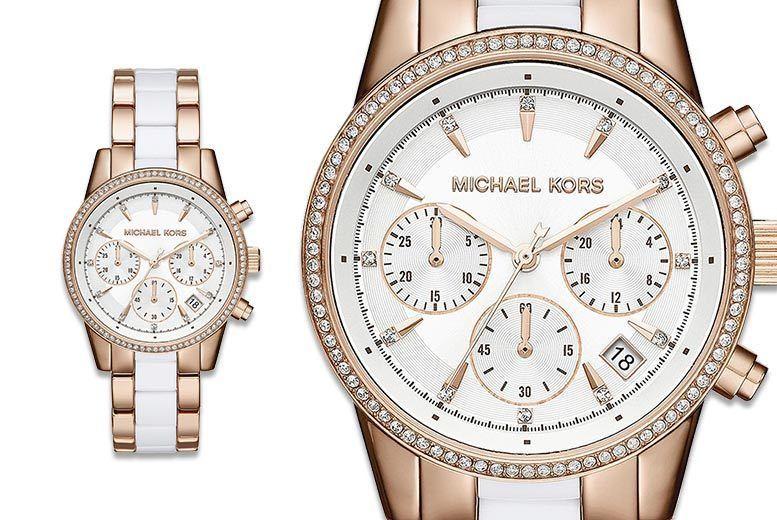 Michael Kors Ladies Two-Tone Bracelet Watch