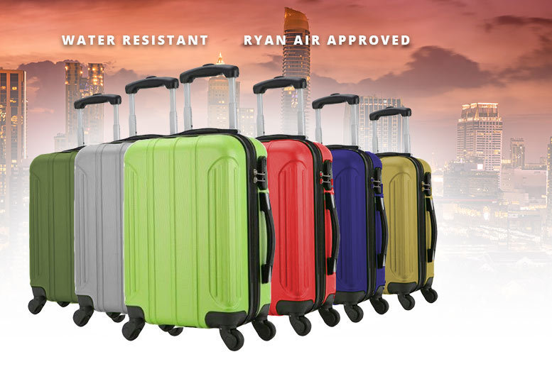 Holando Cabin Splash-Proof Suitcase – 6 Colours! for £19