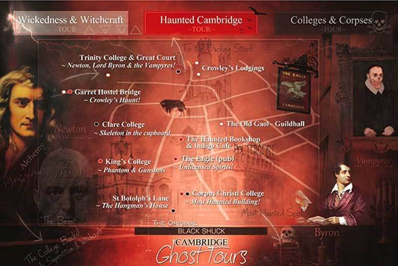 Cambridge: Cambridge Ghost Tour for 2 Adults, 2 Kids – 3 Choices! for £18