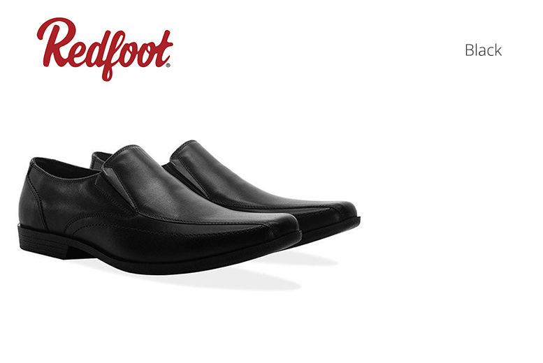 Men's Leather Slip-On Smart Shoes – 2 Colours! for £24.99