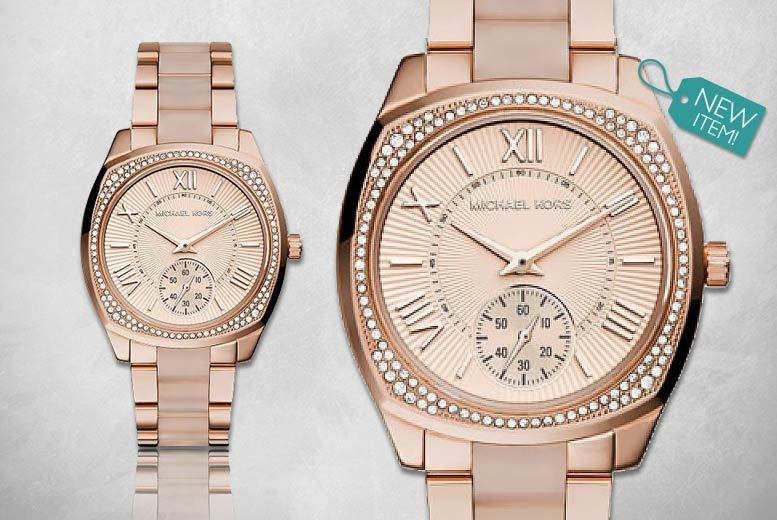 Ladies Michael Kors Two-Tone Rose-Gold MK6135 Watch