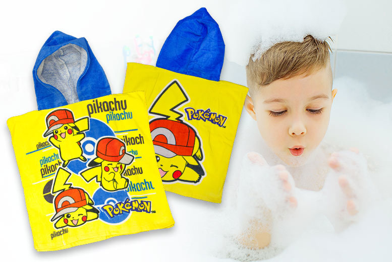 Kids Pokémon Towel Poncho for £6