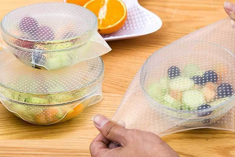 Reusable Silicone Food Covers – 4, 8 or 12! from £4.99