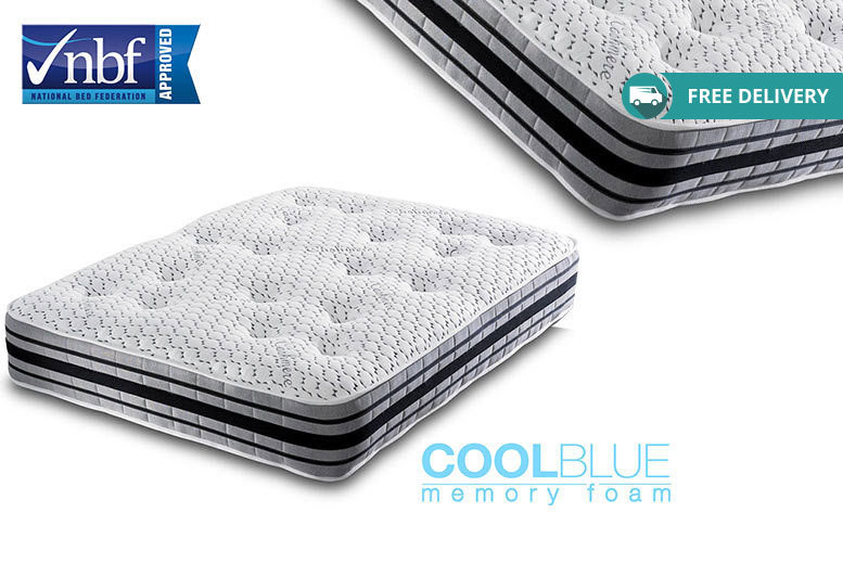 Coolblue 2000 Cashmere Memory Spring Mattress