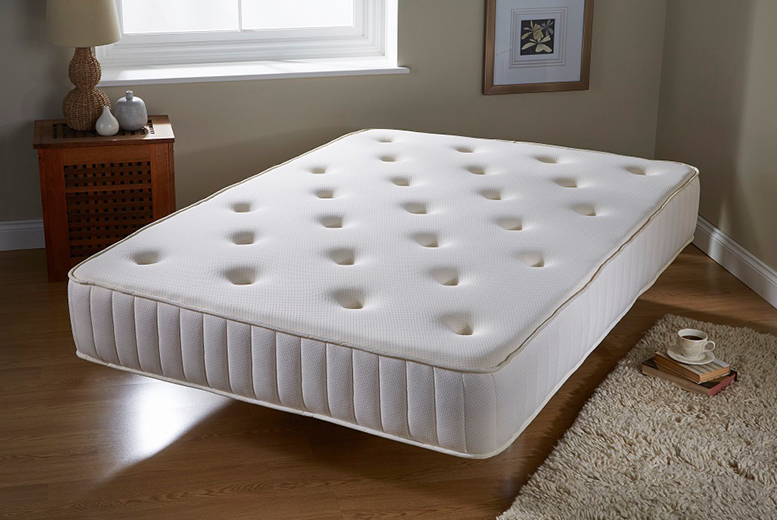 £84 for a single Bonnell luxury tufted mattress, £119 for a double or small double, or £167 for a king size