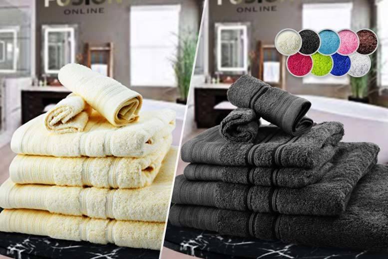 6 or 10pc Luxury Egyptian Cotton Towel Bale - 10 Colours!
