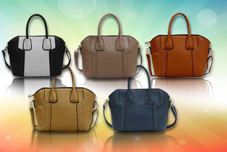 Studded Tote Bag – 8 Colours! for £14.99