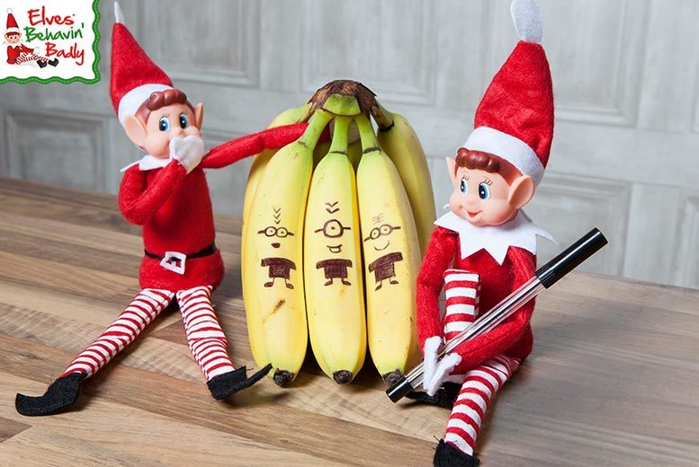 2 Christmas Elves Behavin' Badly for £7.99