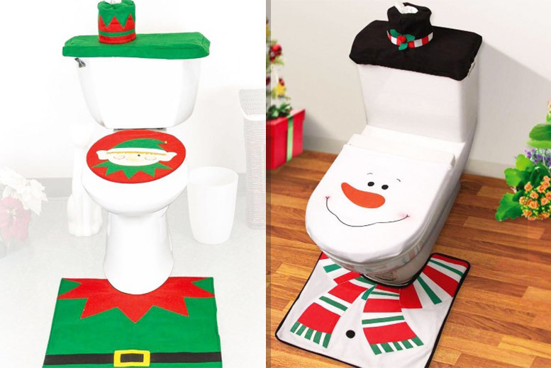 Xmas Toilet Seat Cover – Snowman or Elf! for £6.99
