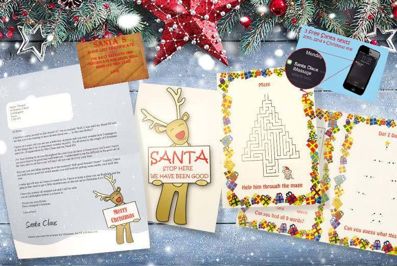 Personalised Santa Letter, Certificate, Texts & Extras for £2.5