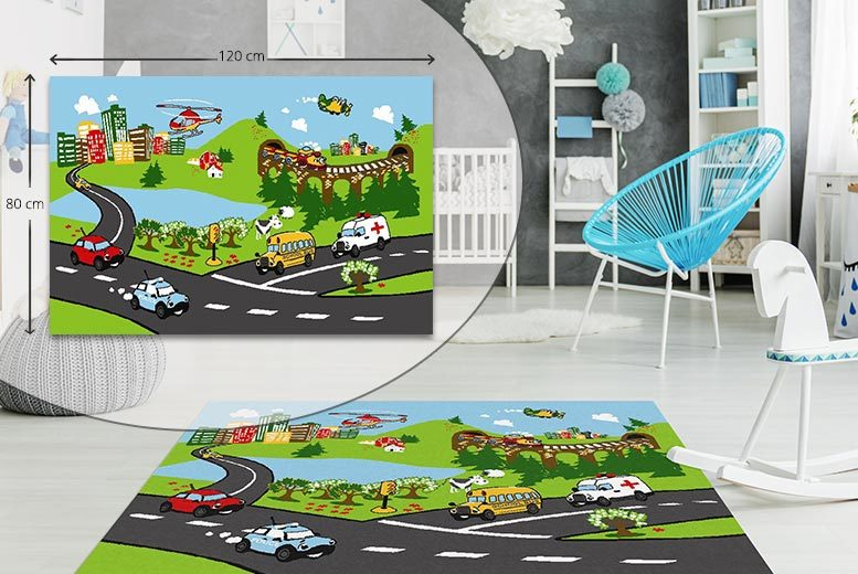 Kids Giant Pirate, Town or City Playmat – 3 Exclusive Designs! for £9.99