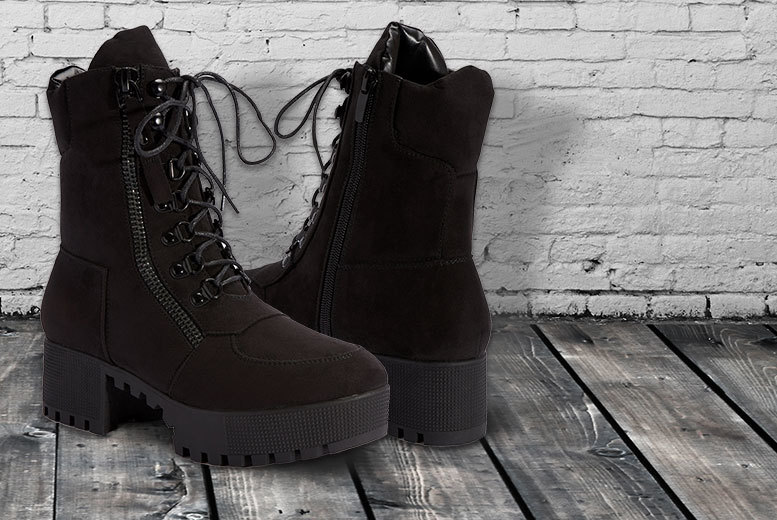 Ladies' Biker Boots – Sizes 3-8! for £16