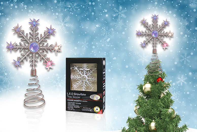 Colour Changing LED Christmas Tree Topper for £6.99
