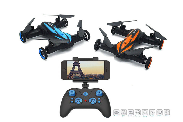 Land & Sky Flying Stunt Drone with Camera Option – 2 Colours! from £49
