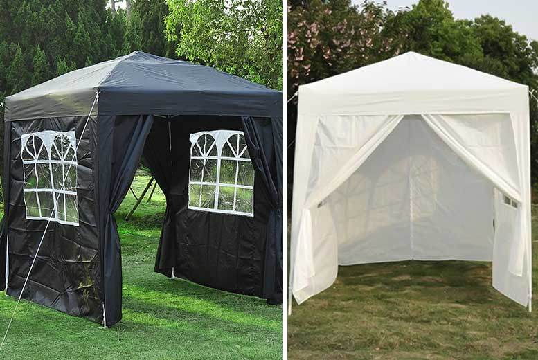 2x2m Heavy Duty Pop-Up Gazebo with Carry Bag – 5 Colours! for £49