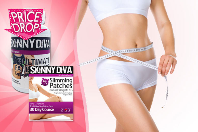 £7 instead of £29.99 (from Skinny Diva) for a 30-day* supply of 'slimming' body patches, £11 including a 30-day* supply of T5 - save up to 77%