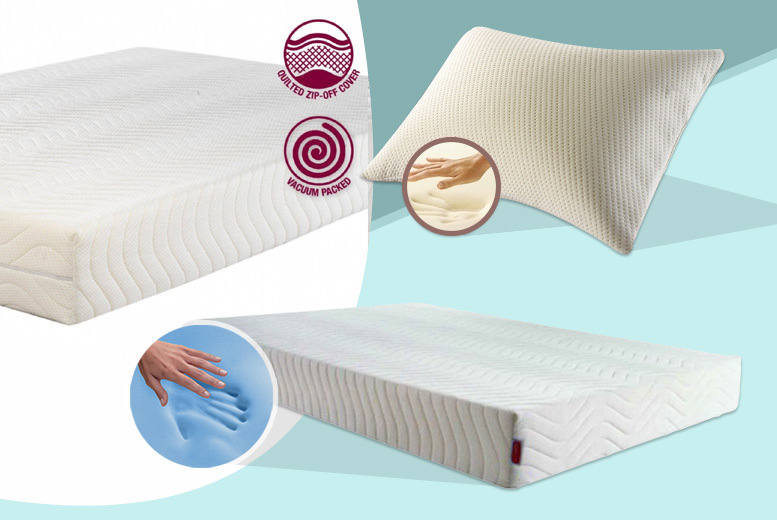 £89 (From My Mattress Online) for a single memory foam mattress & 2 pillows, £129 for a small double or double, £149 for kingsize and £179 for superking - save up to 56%