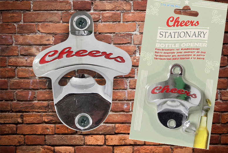 Retro Wall-Mounted Bottle Opener for £2.99