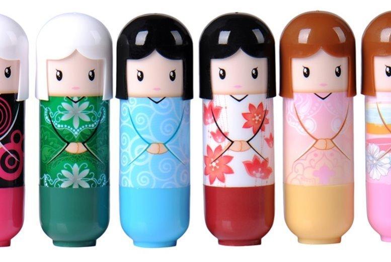 3 Kimono Doll Flavoured Lip Balms for £2.99