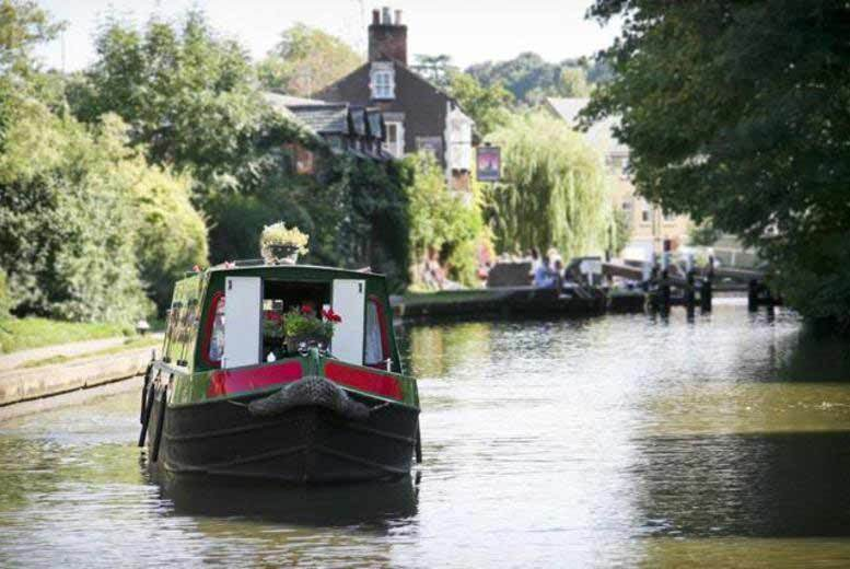 Birmingham: 1-Day Shropshire Union Canal Private Narrow Boat Hire for £75