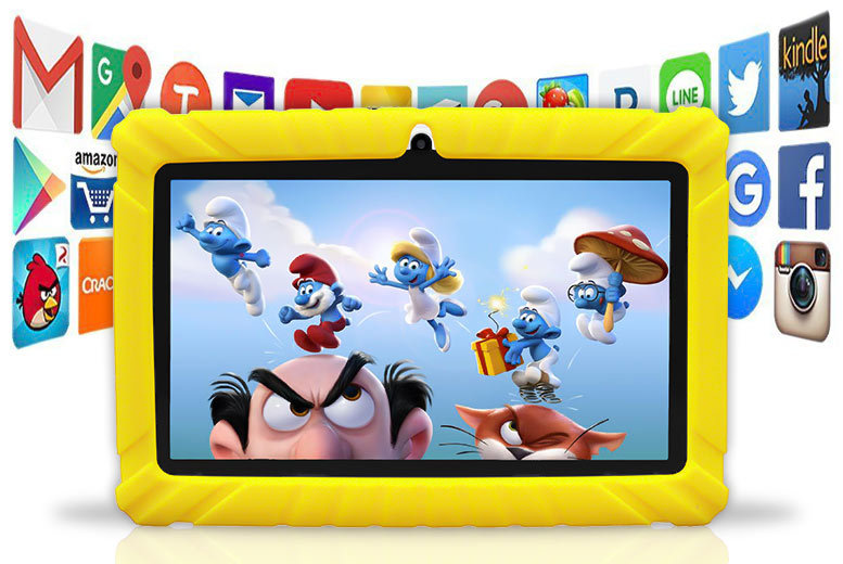 7″ Durable HD Quad Core Android 4.4 Kids' Tablet with 1-Year Warranty – 2 Colours! for £39