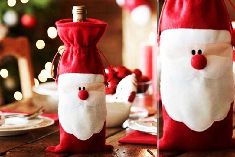 Santa Claus Novelty Wine Bottle Cover – 1 or 2! from £2.99