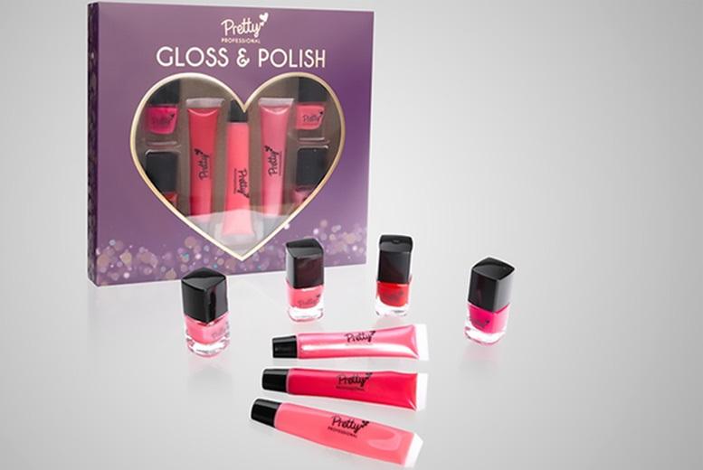 Pretty Professional Lip Gloss & Nail Polish Gift Set for £7.99