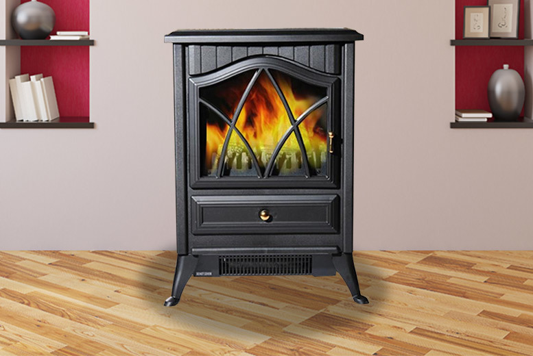 1850W Electric Log Burning Effect Fireplace from £49
