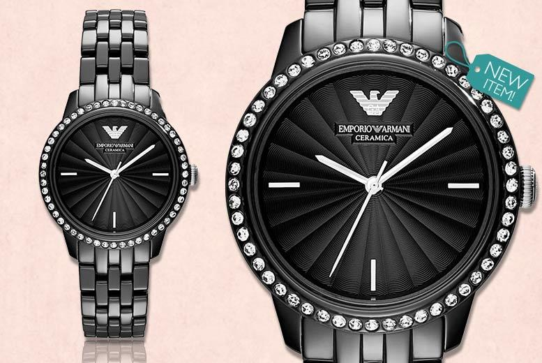 Ladies' Luxury Emporio Armani Ceramica Exclusive AR1478 Watch for £169