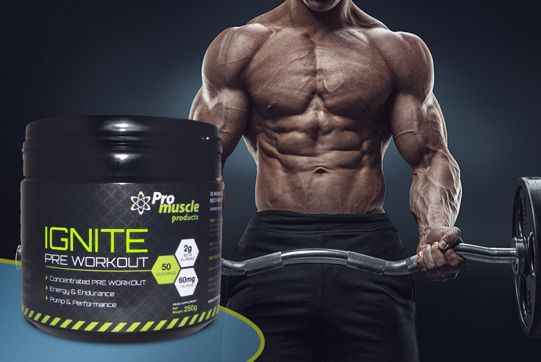 £12 instead of £39.99 (from Pro Muscle Products) for 250g of Ignite pre-workout - save 70%