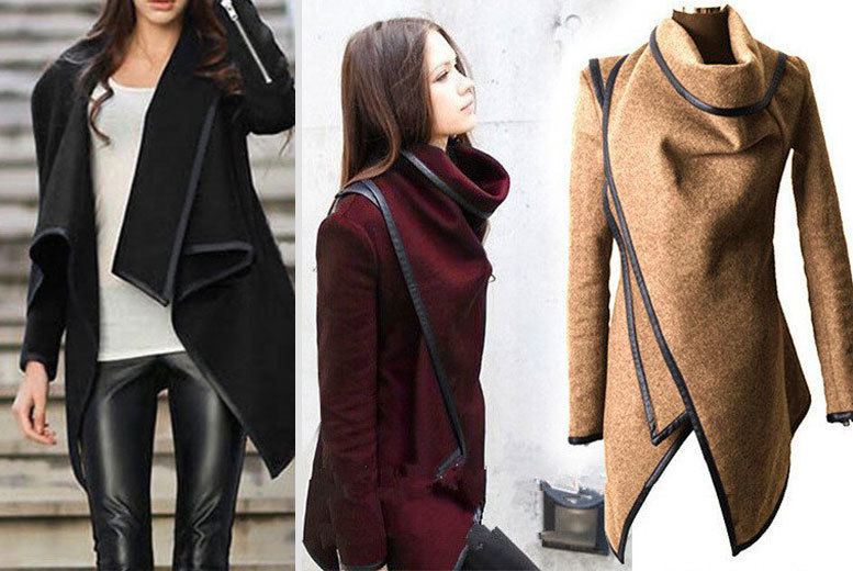 Asymmetric Coat – 2 Colours! for £17