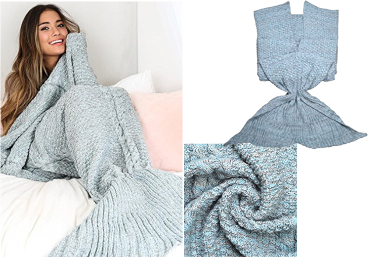 Mermaid Tail Blanket – 2 Colours! for £16