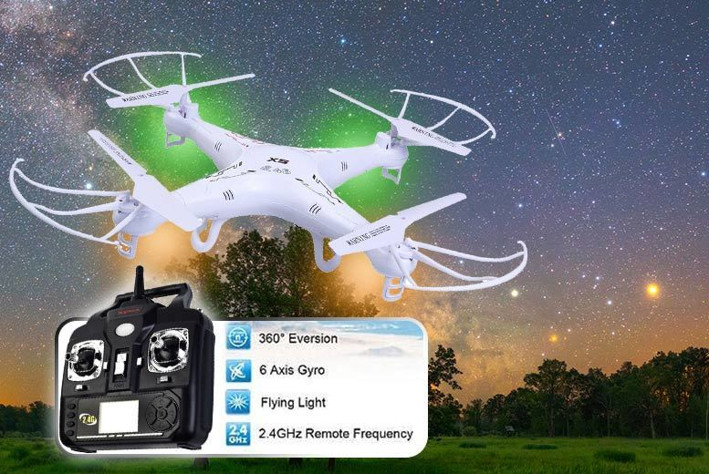 Extreme 6-Axis Stunt Quadcopter Drone for £34