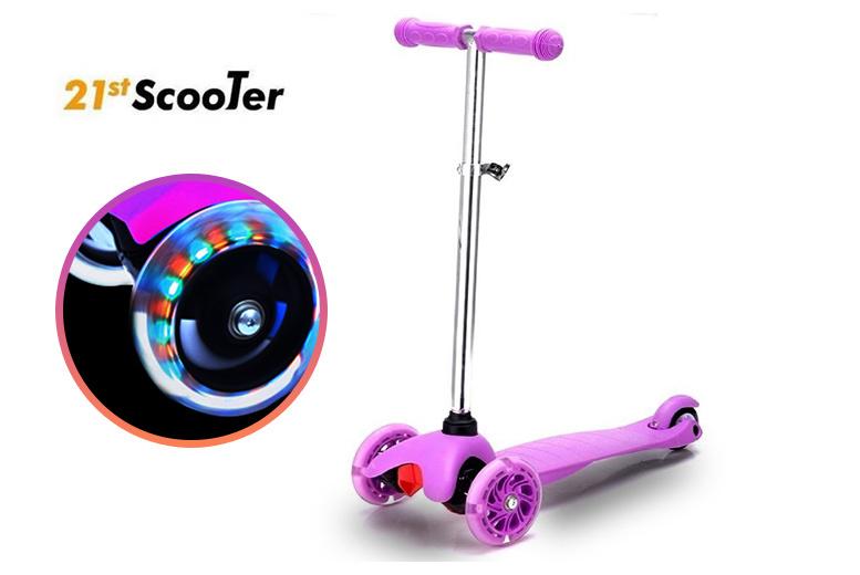 Children's Light Up LED Mini Scooter – 5 Colours! for £29