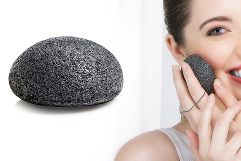 Bamboo Charcoal Konjac Cleansing & Exfoliating Face Sponge for £3.99