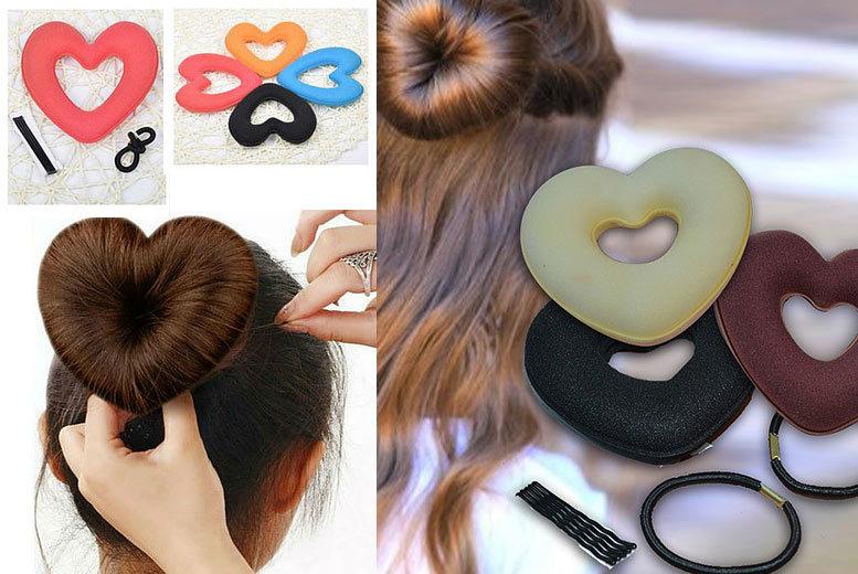Heart-Shaped Hair Donut for £1