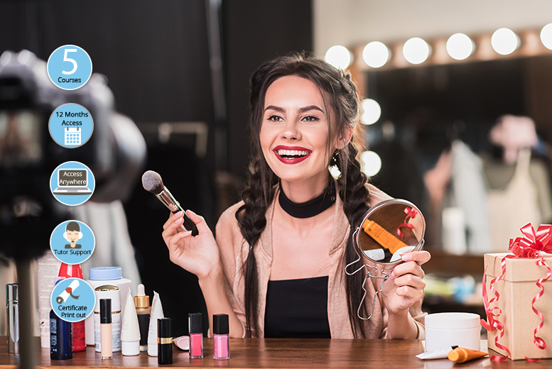 'Become a Pro Makeup Artist' Course Bundle from £16
